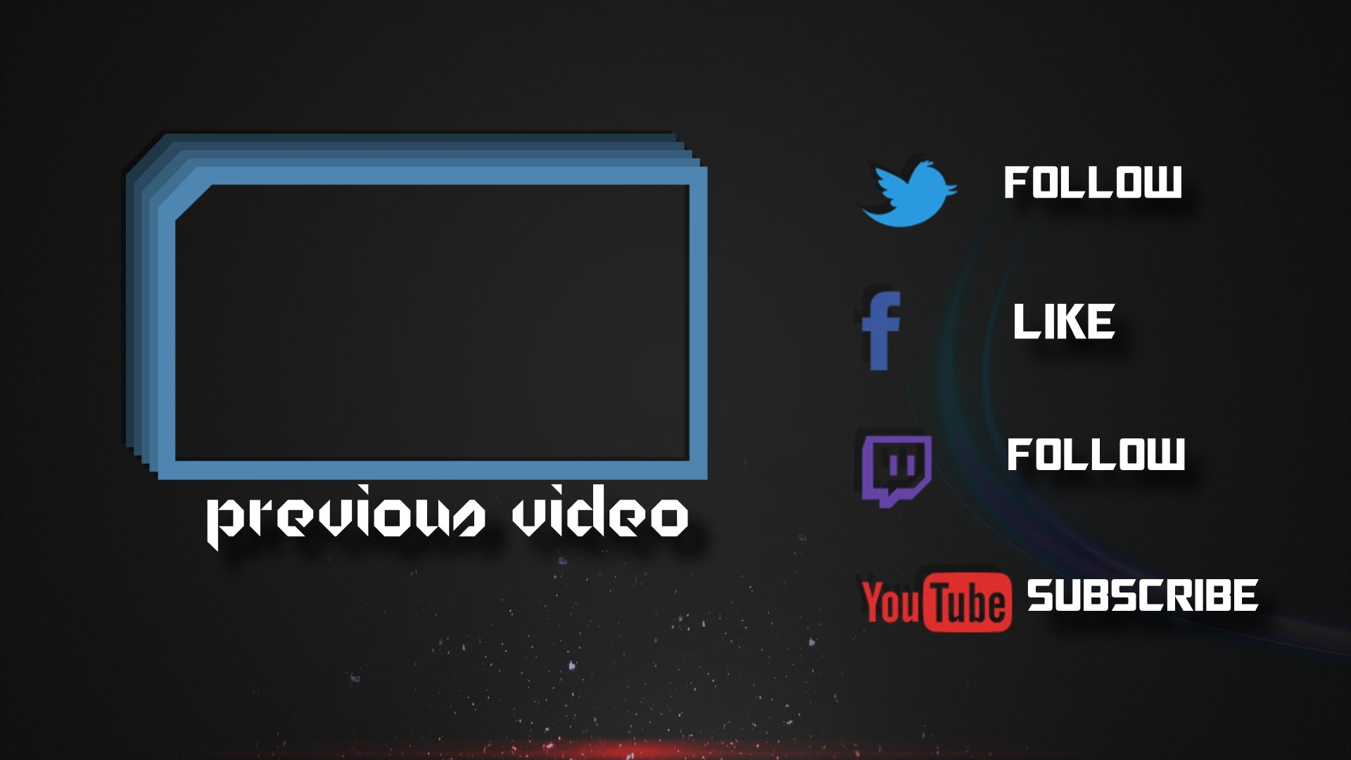 Download Sony Vegas Outro Template Easy to Edit