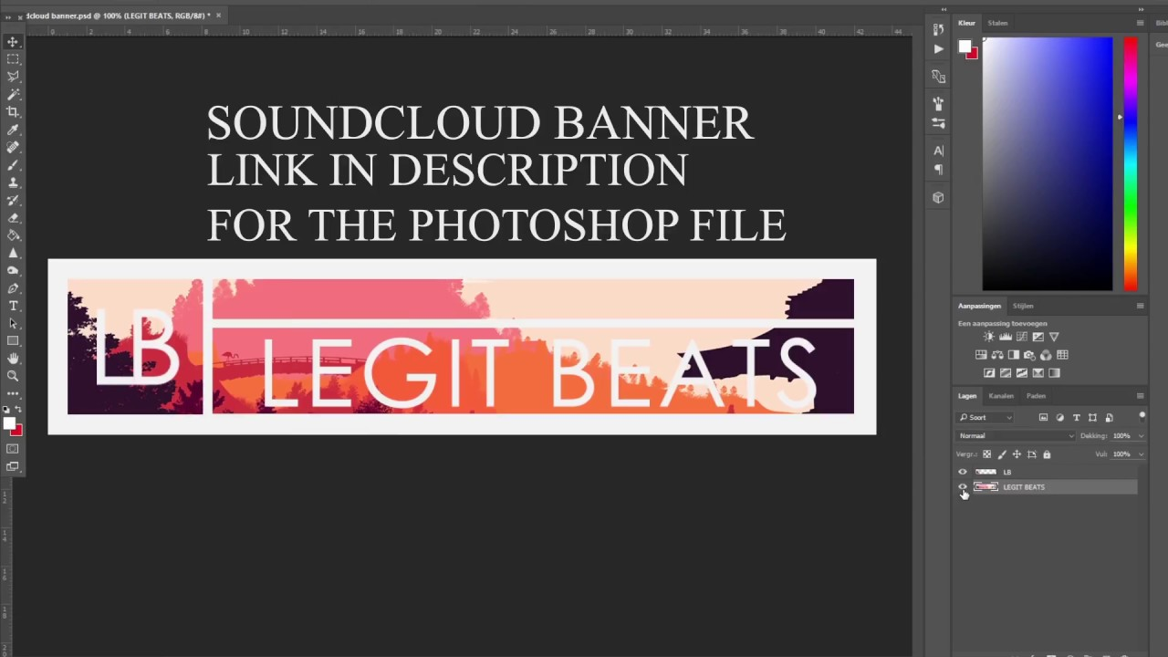 FREE] Soundcloud Banner PSD Template Tutorial YouTube