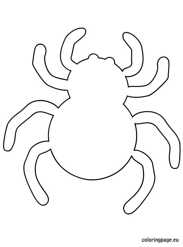 Spider halloween template Fun! We could do several cute projects