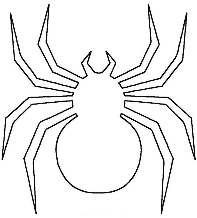 Spider Shape Template 55+ Crafts & Colouring Pages   Free