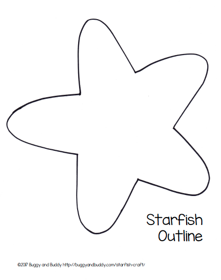 Starfish Template Thatswhatsup Arresting Printable | reactiongif.me