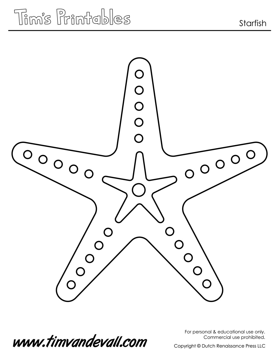 Sea+Star+Template | Beaded Starfish Art And Craft Ocean Craft