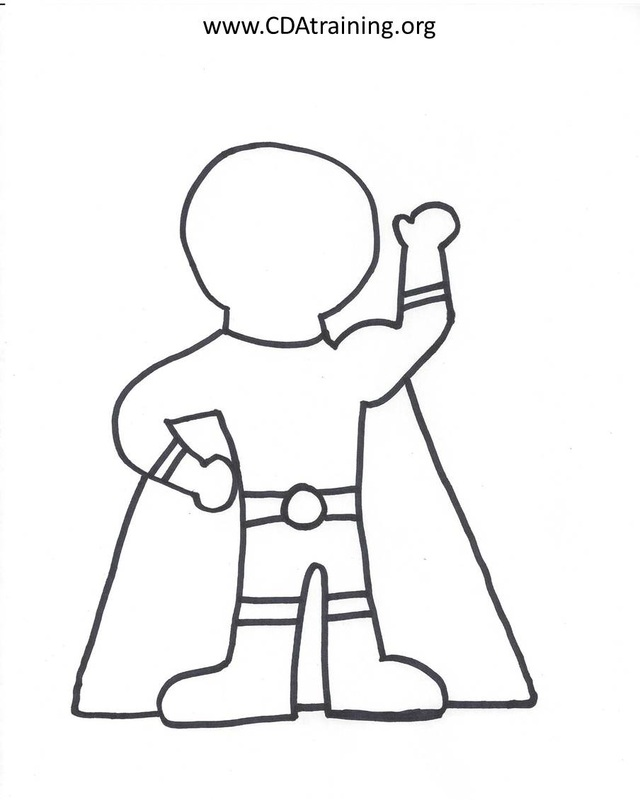 Superhero Outline Drawing at GetDrawings.| Free for personal