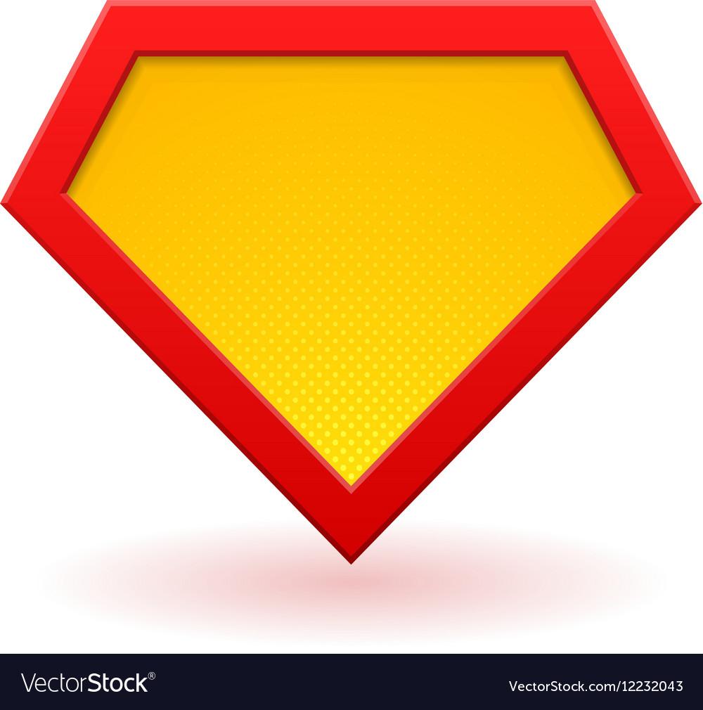 Superhero logo template Royalty Free Vector Image