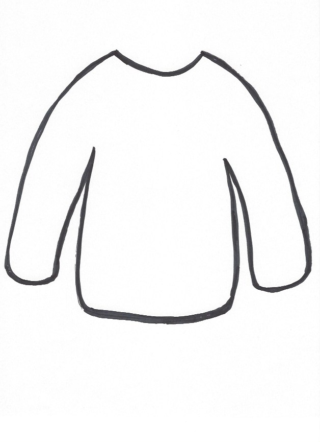 Sweater template.png 628×865 pixels   Preschool   Pinterest
