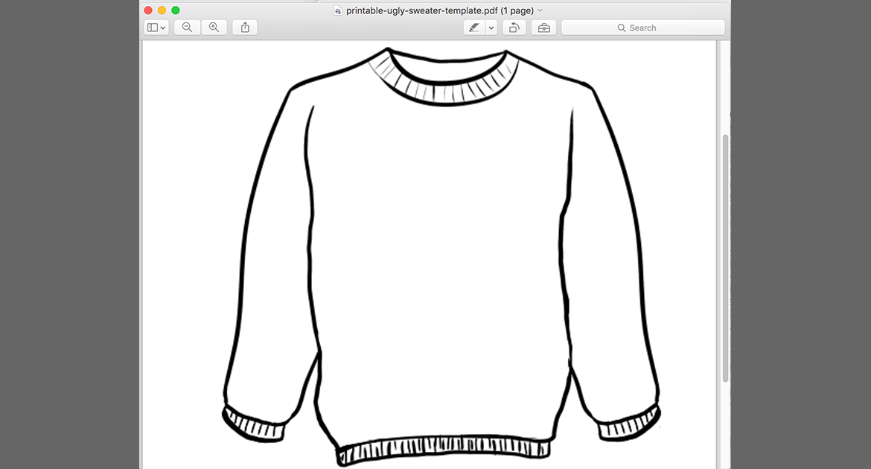 Printable Ugly Sweater Template PDF   Sal Ferrarello