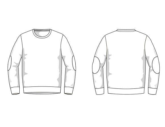 Men's Sweater Fashion Flat Template ~ Templates ~ Creative Market