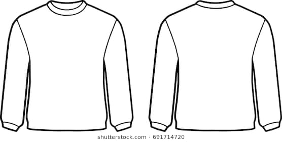 White Sweater Template Stock Vector 691714720 Shutterstock