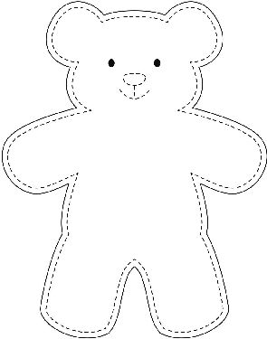Sample Teddy Bear Template wikiHow … | DIY Proj…