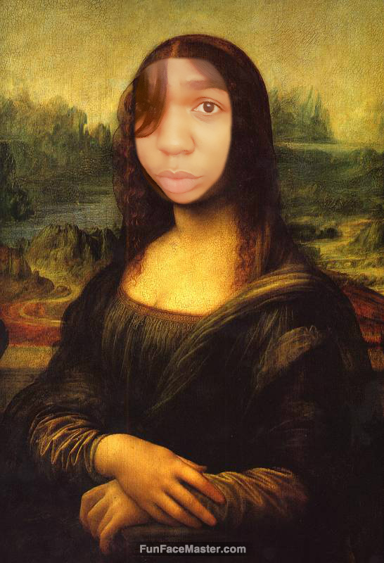 Tierra Use Mona Lisa Smile Template Put your face in fun photo