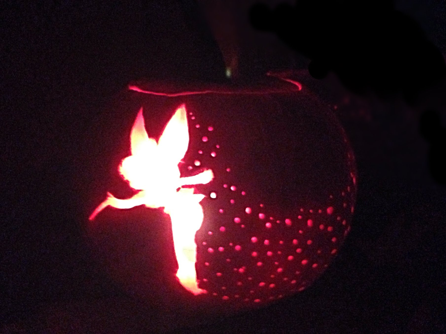 tinkerbell pumpkin carving April.onthemarch.co
