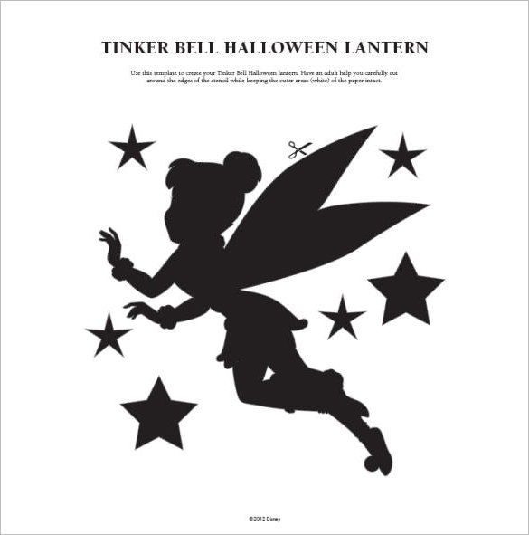 tinkerbell pumpkin carving stencils April.onthemarch.co