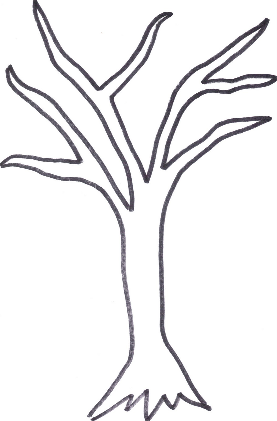 tree printable template April.onthemarch.co