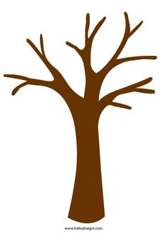 tree trunk clipart | Tree Pattern Tree with six branches and