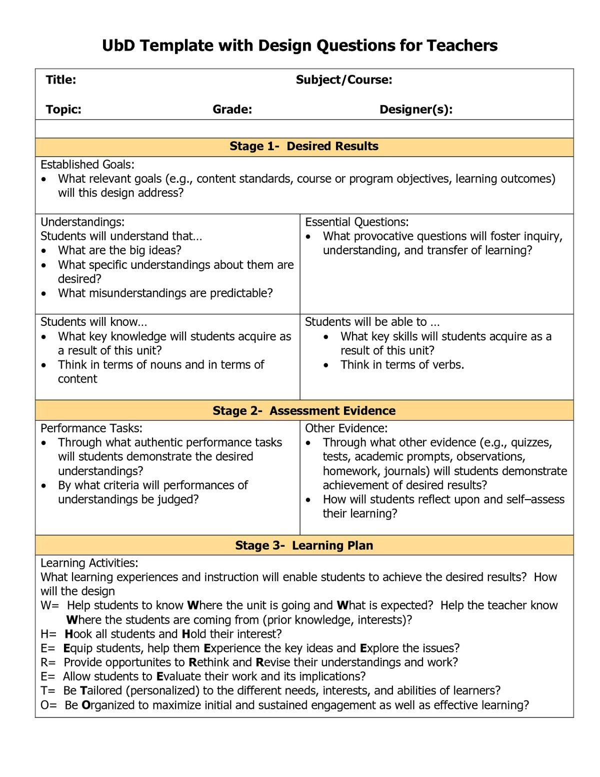 Know what you need to teach, but unsure how to deliver? Use this