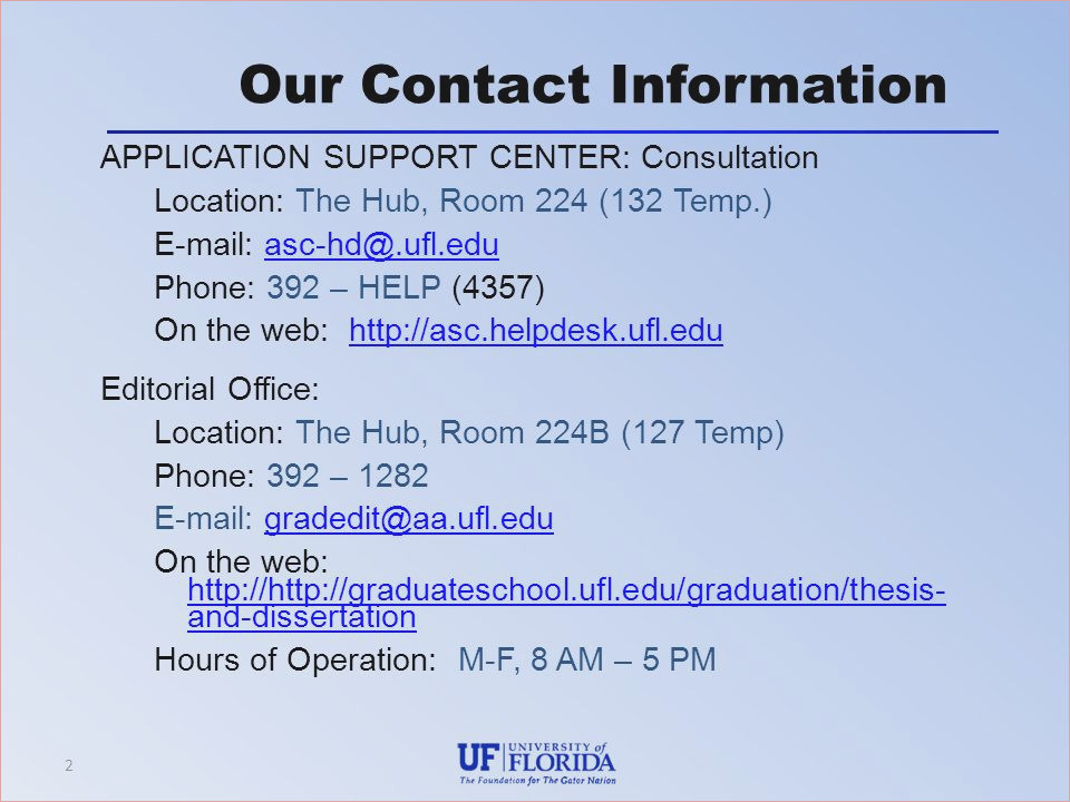 Just how to Look after Your Uf Thesis Template