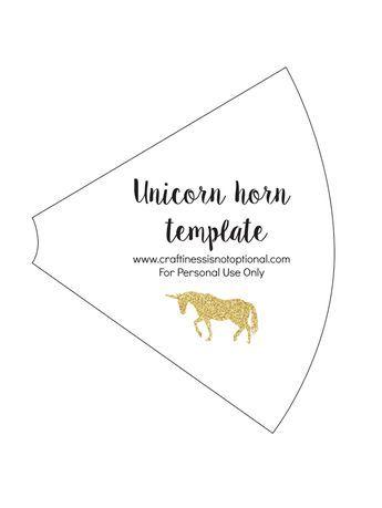 Unicorn horn template   Unicornio party   Pinterest   Unicorns