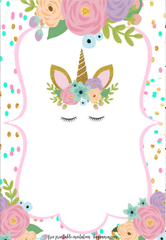 Unicorn pattern. Use the printable outline for crafts, creating
