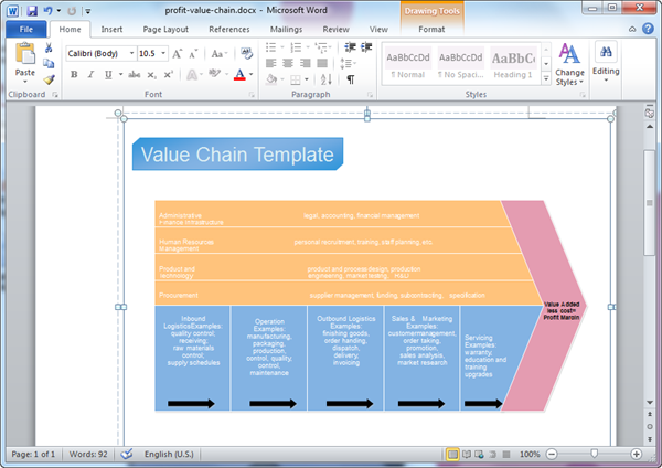 Value Chain Templates for Word