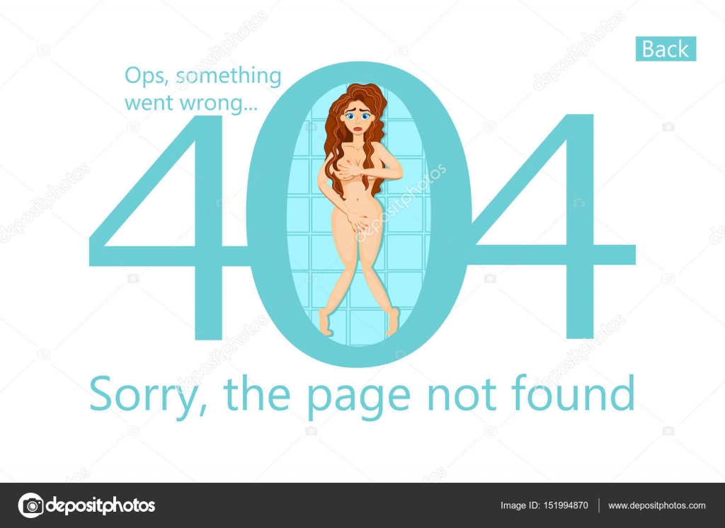 Vector template 404 error, page not found. Funny illustration with