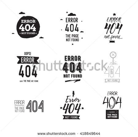 404 Error Web Page Background Vector Stock Vector 418649644