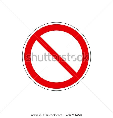 STOP No Sign Template Icon Red Stock Vector 487711459 Shutterstock