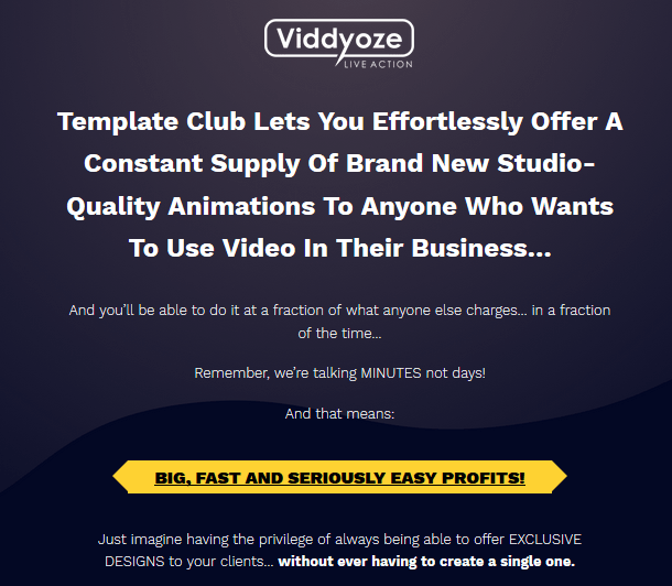 Viddyoze Live Action Template Club By Joey Xoto Launched | JVZOO