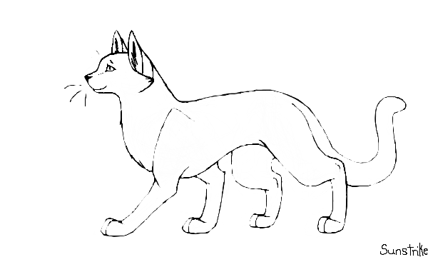 how do you draw a warrior cat | Warrior Cat Template (Free to