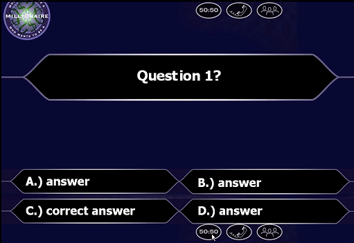 who wants to be a millionaire template with music who wants to be