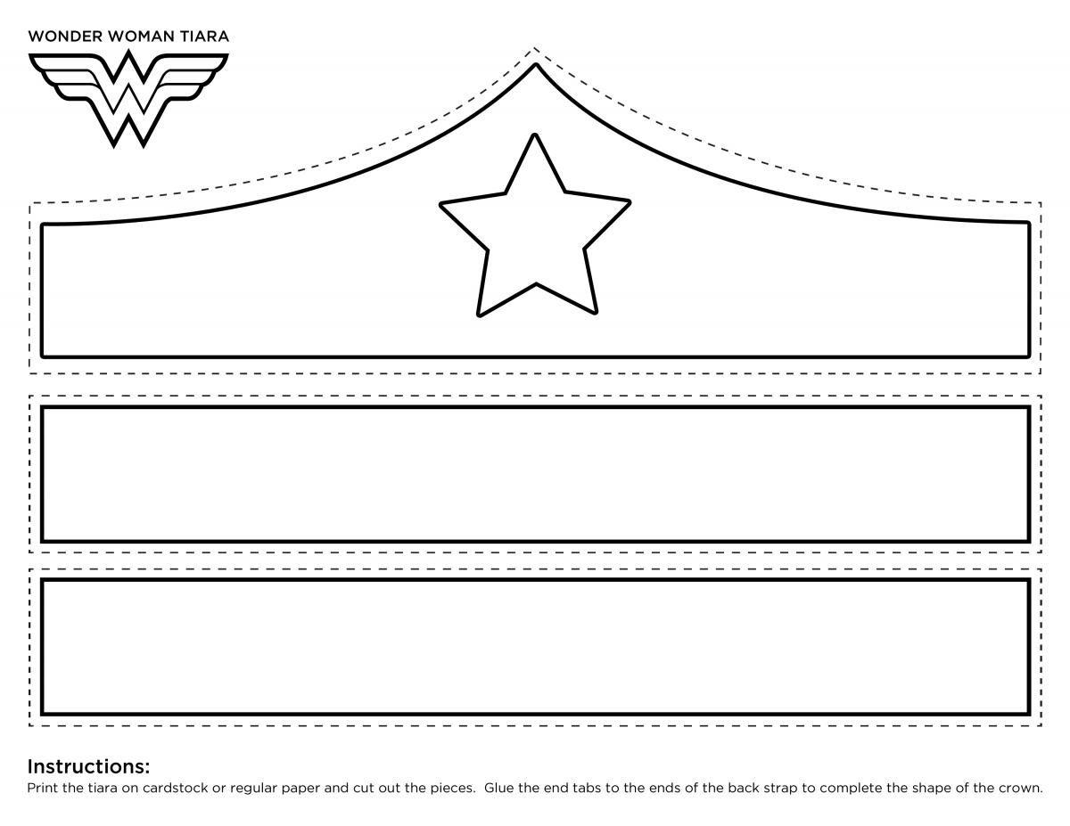 Wonder Woman Crown Printable Template | girl scouts | Pinterest
