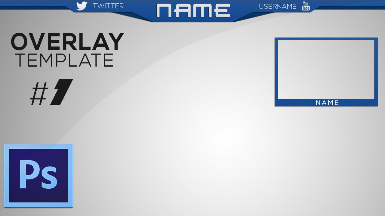 NEW FREE Twitch/Youtube overlay template + Speed Art [HD] 2015