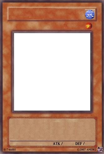 Yugioh Card Template Water by Dream raccoon on DeviantArt