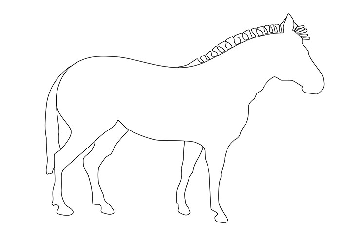 Zebra pattern. Use the printable outline for crafts, creating