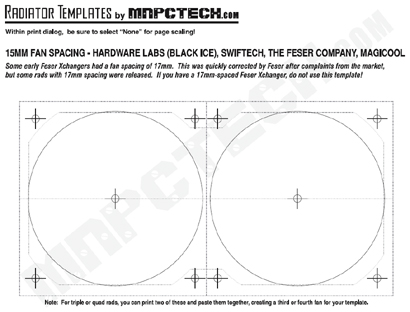 FREE PC Fan & Radiator Template Printable Download
