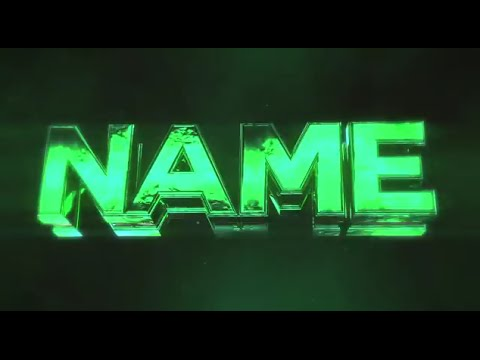 Free 3D Intro #30 | 3D Green Bass Intro Template YouTube