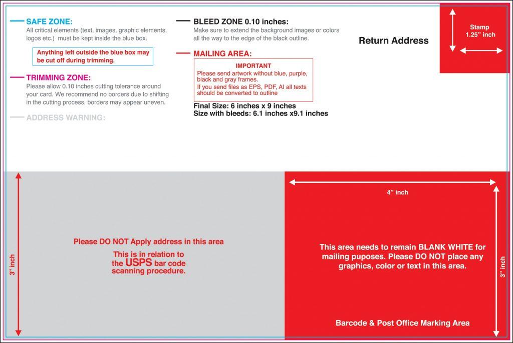 6x11 Postcard Template (9 Templates) HN Designs