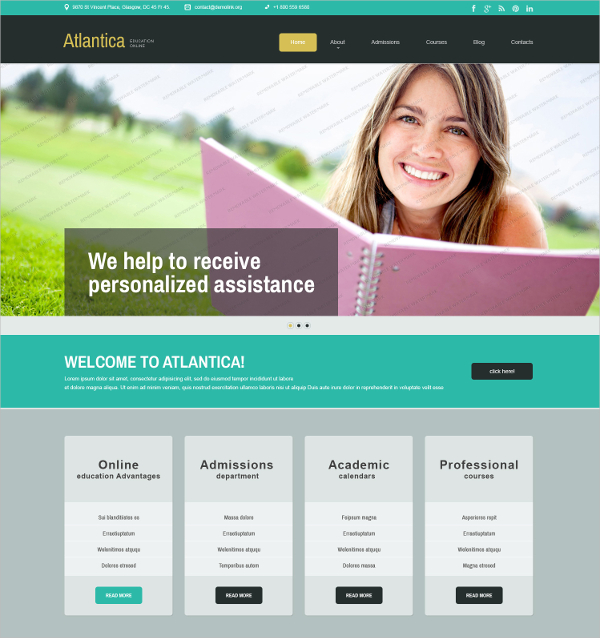 27+ Free Education Website Themes & Templates | Free & Premium