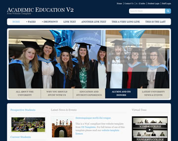 Academic Education V2 Website Template | Free Website Templates