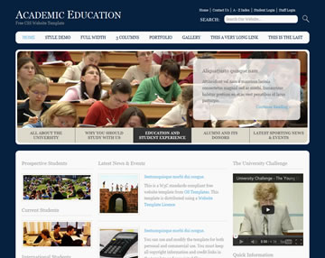Academic Education Website Template | Free Website Templates | OS