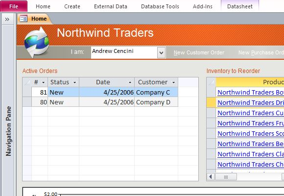 Desktop Northwind Sample Access Database Template