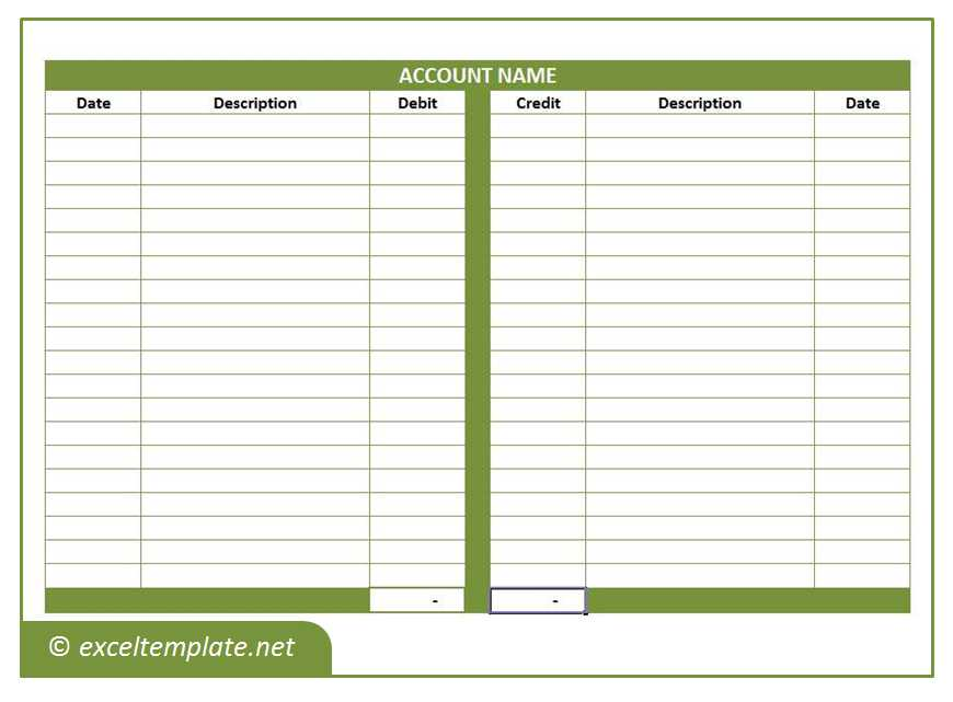 general ledger template proposal templates