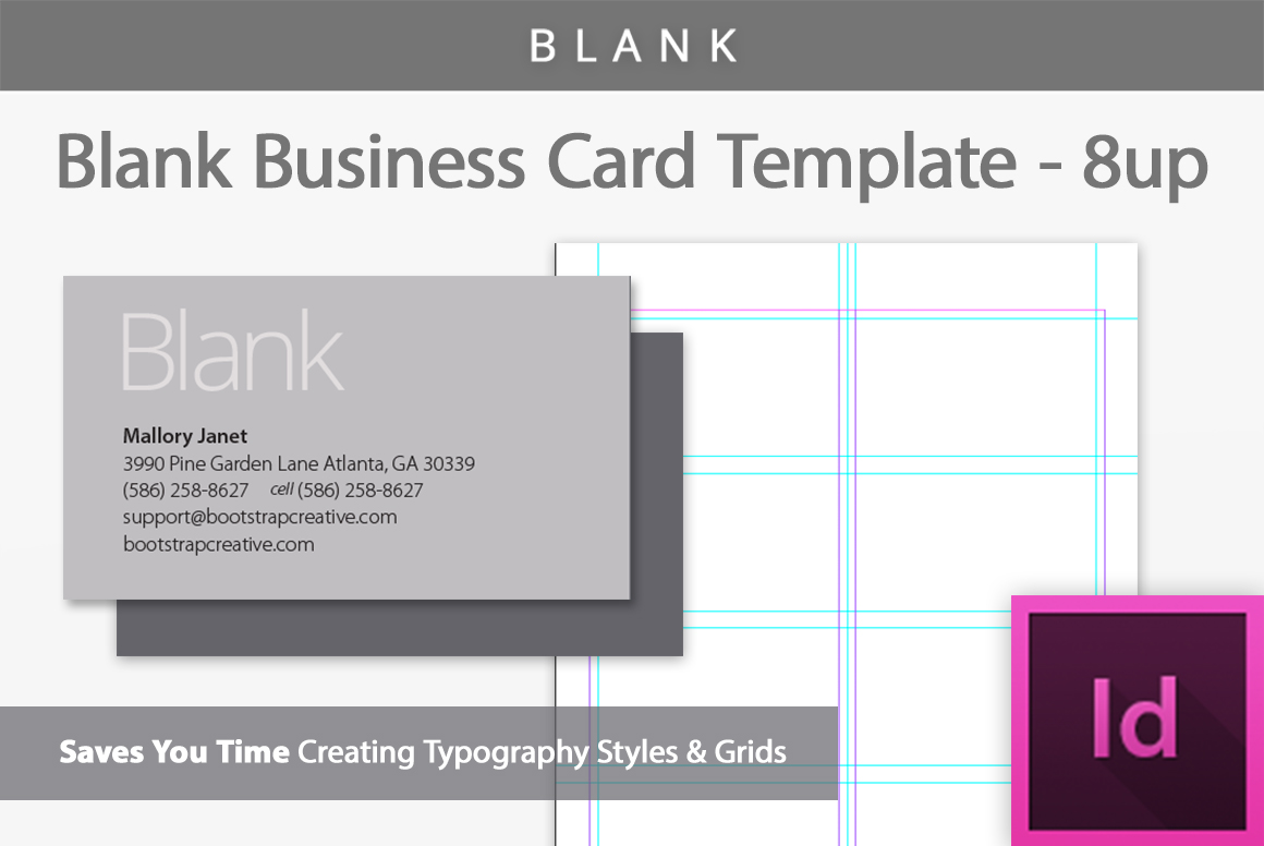 Blank Business Card InDesign Template b | Design Bundles