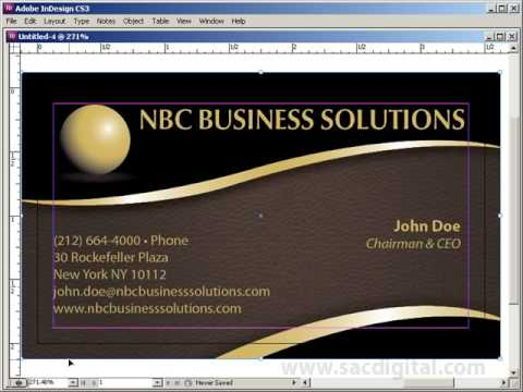 Indesign Business Card Template With Bleeds Villamountrose.com