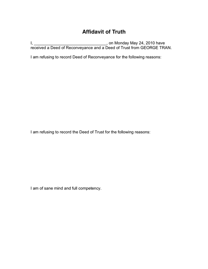 Affidavit of Truth 7 Free Templates in PDF, Word, Excel Download