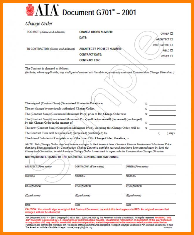 aia change order form free Gala.kidneycare.co