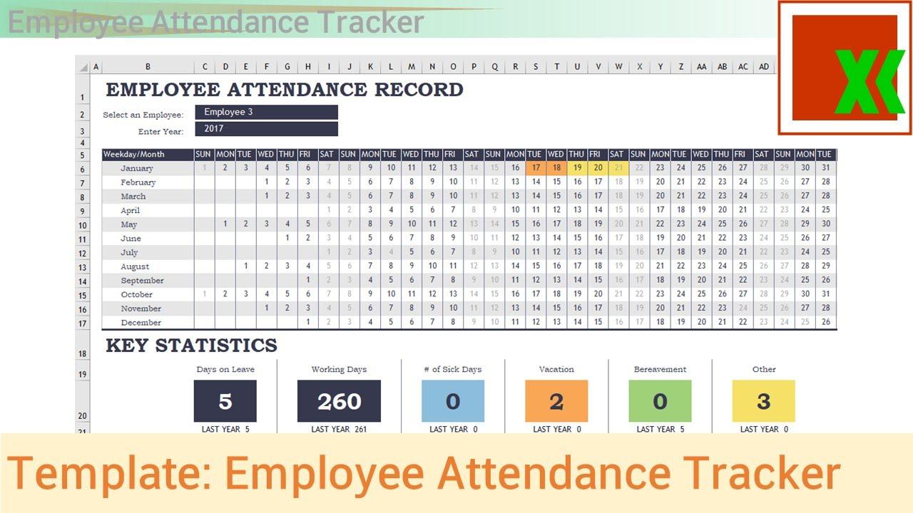 Excel Template Employee Attendance Tracker YouTube