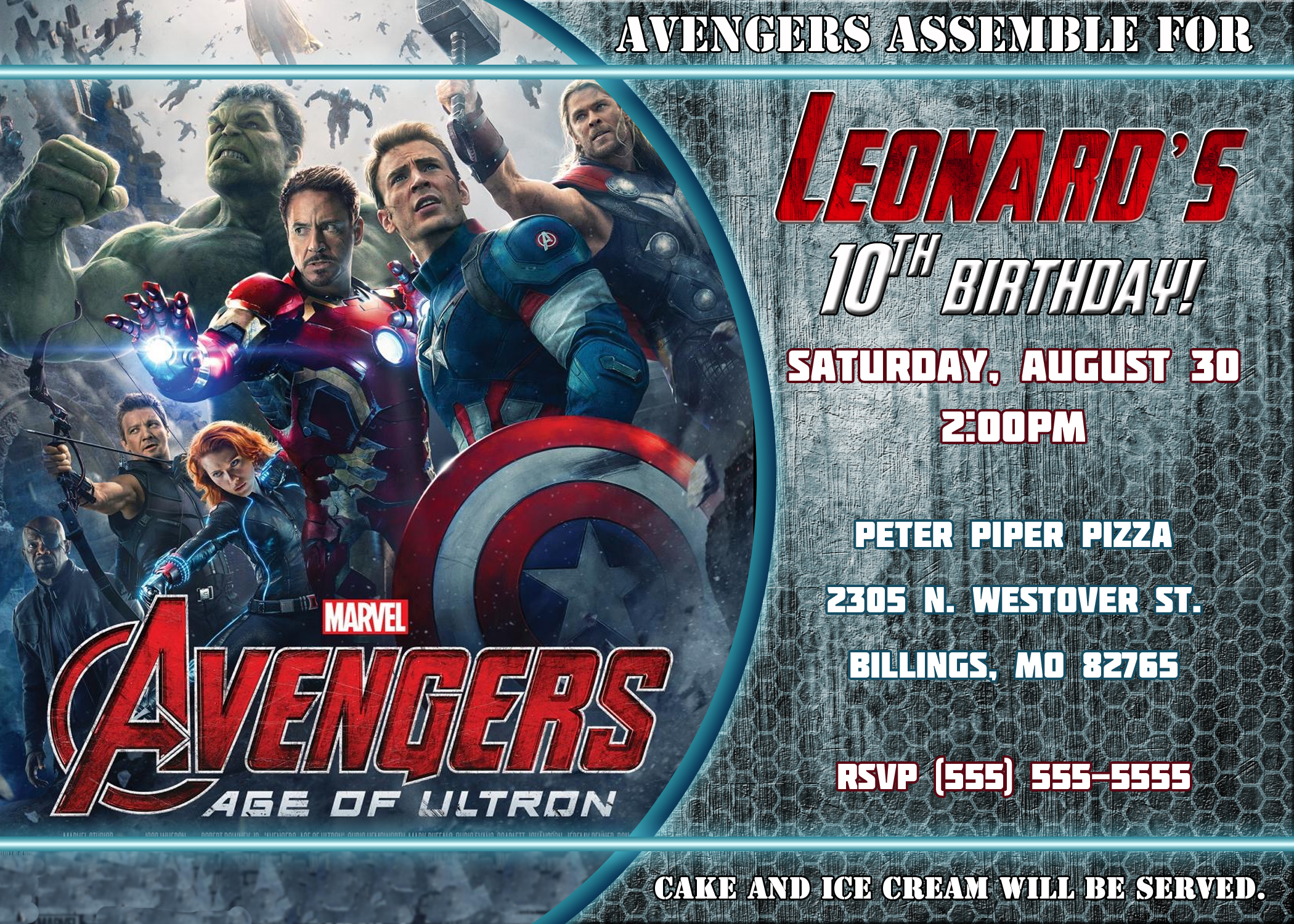 Avengers Birthday Invitati Amazing Avengers Birthday Invitations