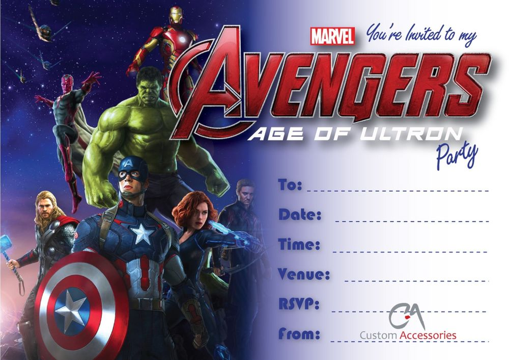 F Unique Avengers Birthday Invitations Free Birthday Invitation