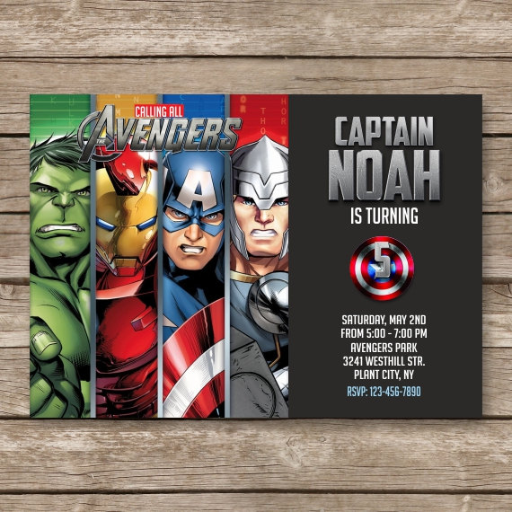 Birthday Invites. Elegant Avengers Birthday Invitations Ideas