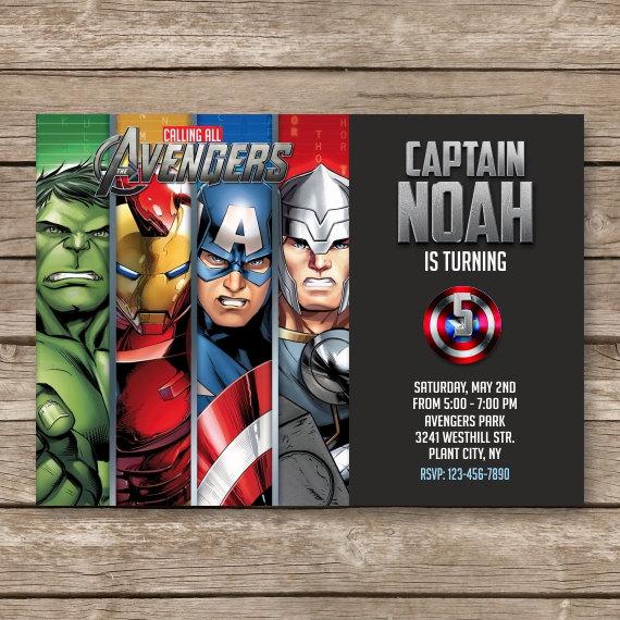 Birthday Invites. Elegant Avengers Birthday Invitations Ideas
